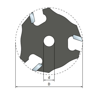 Фреза Freud дисковая для держателя d8 D50,8 h1,6 Z3 (56-10008P)
