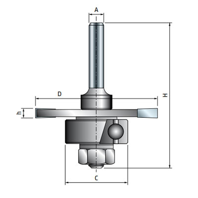 Фреза Freud дисковая для радиальных пазов d6 D50,8 h3,97 Z3 (63-10906P)