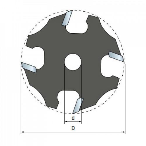 Фреза Freud дисковая для держателя d8 D50,8 h1,5 Z4 (58-09908P)