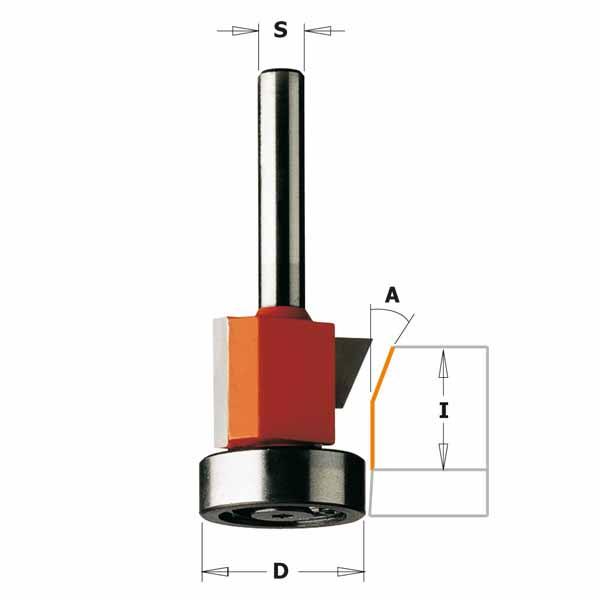 Фреза СМТ обгонно-фасочная комбинированная d6 D24.5 h16 O25 (707.210.11)