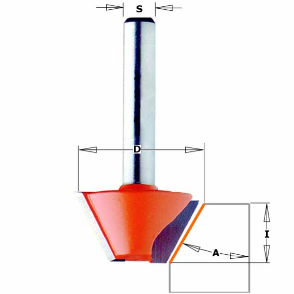 Фреза СМТ для снятия фаски d8 D25 L41 h8 O45 (905.240.11)