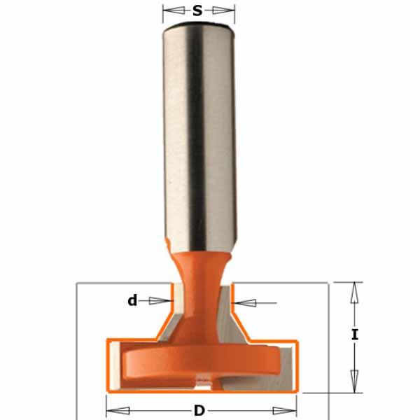 Фреза СМТ пазовая конструкционная Т-образная d12 D32 L66 z2 h20 (950.604.11)
