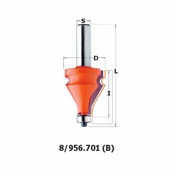 Фреза СМТ кромочная фигурная d12 D35 L87 h38 (956.701.11)