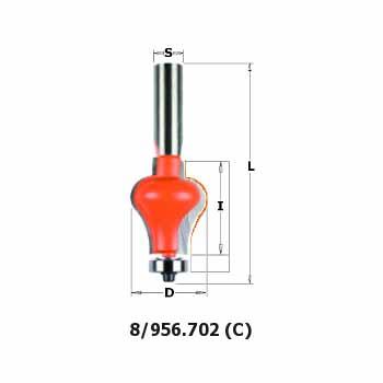 Фреза СМТ кромочная фигурная d12 D31.7 L87 h38.1 (956.702.11)