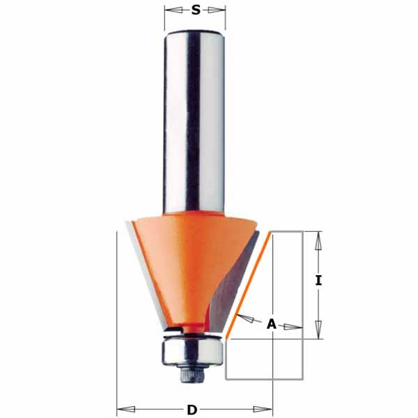 Фреза СМТ для снятия фаски с нижним подшипником d12 D24.5 h22 O15 (957.503.11)