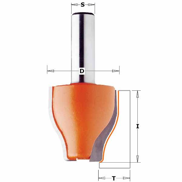 Фреза СМТ фигирейная вертикальная профиль B d12 D38 h38 (990.602.11)
