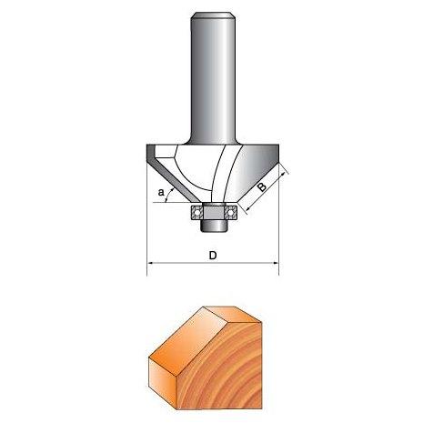 Фреза ГЛОБУС 1022 кромочная конусная d8 D25 h10.5
