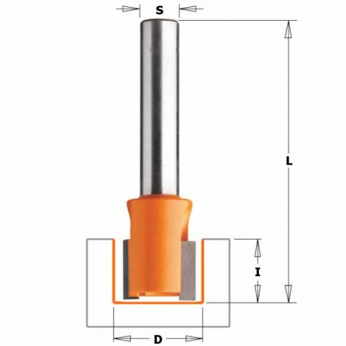 Фреза СМТ пазовая для петель d8 D14 L38.1 h12.7 (902.140.11)
