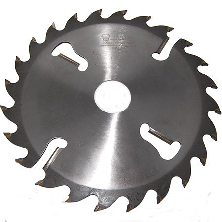 Пильный диск с подрезными ножами Ватцо D350 d50 z24+4