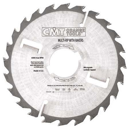 Диск СМТ для многопила продольного пиления с подрезными ножами D300 d30 z24+4 (279.024.12M)