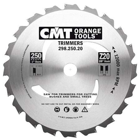 Пильный диск СМТ для садовых триммеров D250 d20 z20 (298.250.20H)