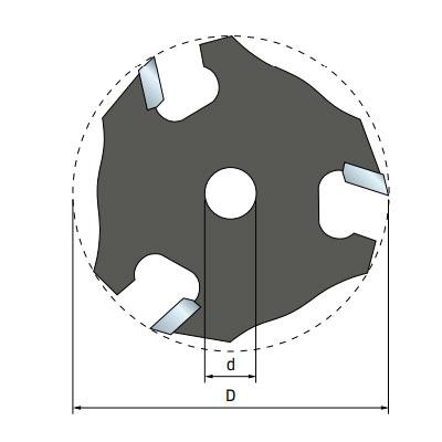 Фреза Freud дисковая для держателя d8 D50,8 h1,98 Z3 (56-10408P)