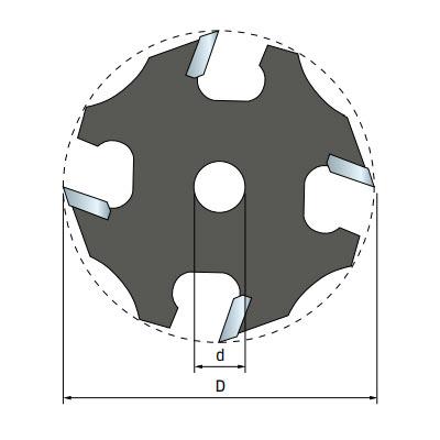 Фреза Freud дисковая для держателя d8 D50,8 h5,95 Z4 (58-11108P)