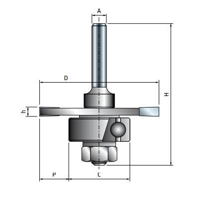 Фреза Freud дисковая для радиальных пазов d12 D50,8 h3,97 L60,3 Z3 (63-60912P)