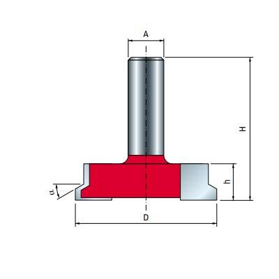 Фреза Freud для изготовления мебельных ящиков d12 D50,5 h13 L51 O30° Z2(99-24012P)