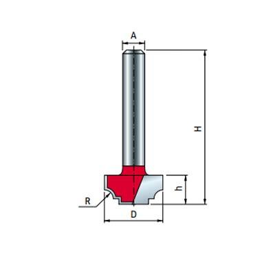 Фреза Freud пазовая фасонная d6 D22,2 h12 R3,2 L44 Z2 (39-30606P)