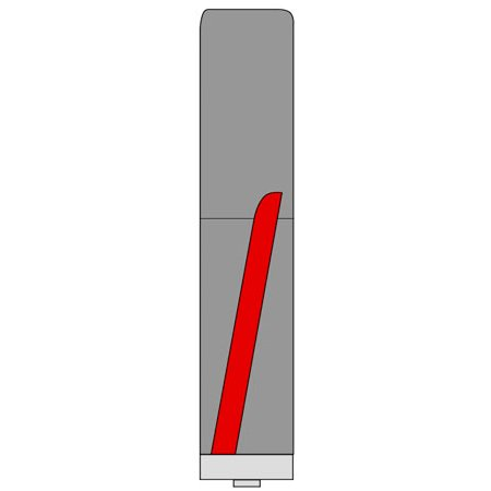 Фреза ГЛОБУС 1020S negative кромочная прямая с нижним подшипником d12 D12 h40 L100