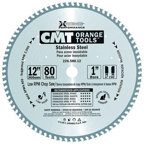 Пильный диск СМТ для сухого реза нержавеющей стали D300 d30 z80 (226.580.12M)