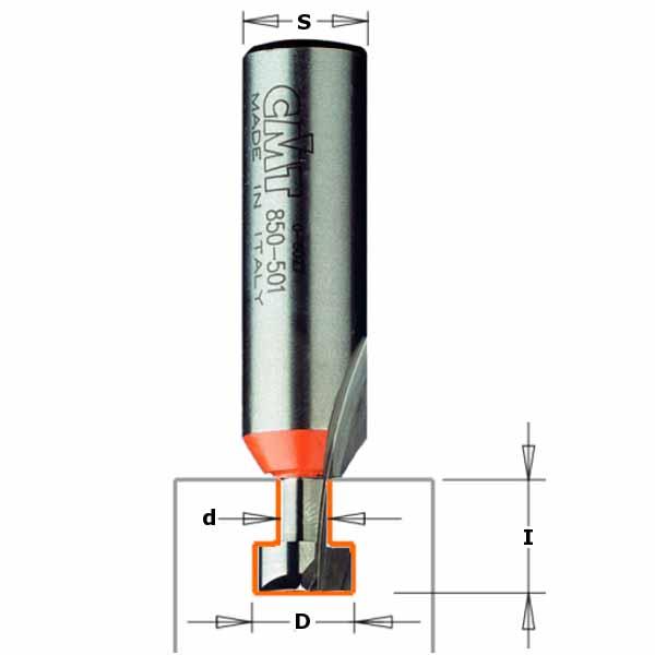 Фреза СМТ пазовая конструкционная d8 D9.5 L54 h11 (950.001.11)