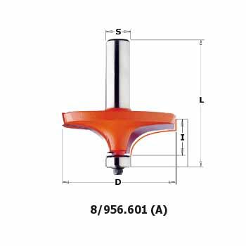 Фреза СМТ кромочная калёвочная d12 D63.5 L67.9 h19 (956.601.11)