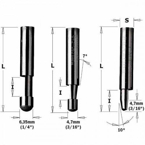 Фреза СМТ для триммера d6 D6 L38 h9.5 (742.095.11)