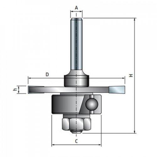 Фреза Freud дисковая для радиальных пазов d12 D50,8 h2,4 Z3 (63-15612P)