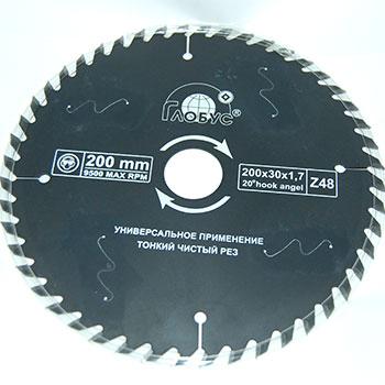 Пильный диск ГЛОБУС универсальный D165 d20 z24