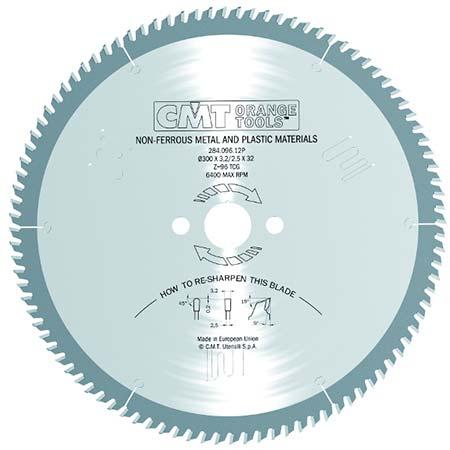 Пильный диск СМТ по цветным металлам и пластикам D350 d32 z108 (284.108.14P)