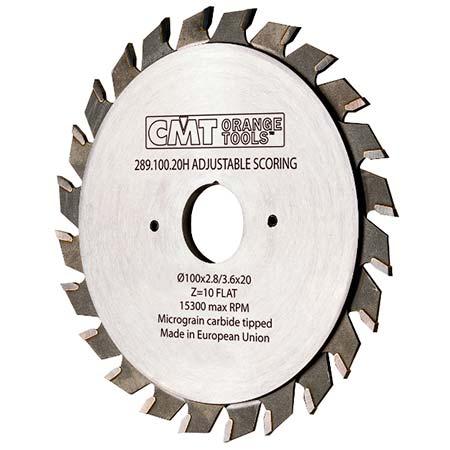 Регулируемый двухкорпусный подрезной диск СМТ D100 d22 z10+10 (289.100.20K)