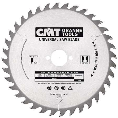 Пильный диск СМТ универсальный для ручных циркулярок D160 d30 z24 (291.160.24M)