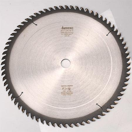 Пильный диск с ТС напайками ІНТЕКС D300 d50 z56 3.8*2.6