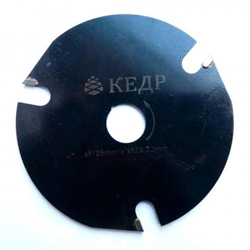 Универсальный пильный диск КЕДР Стандарт на болгарку (УШМ) D125 d22 z3