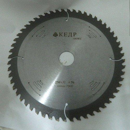 Каленый пильный диск по дереву Кедр Люкс D300 d50 z52