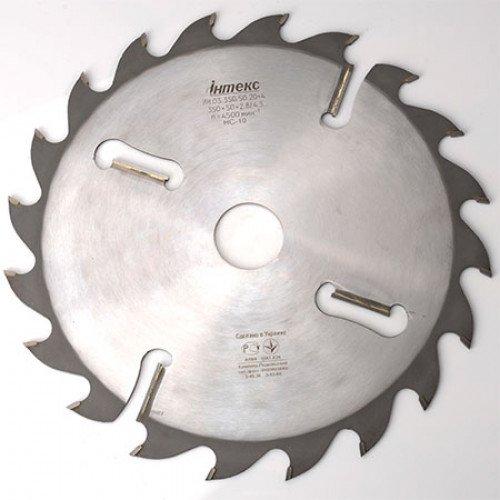 Пильный диск с подрезными ножами ІНТЕКС D350 d50 z18+4 4.3*2.8