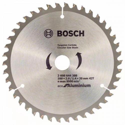 Пильный диск BOSCH Eco for Aluminium D160 d20(16) z42