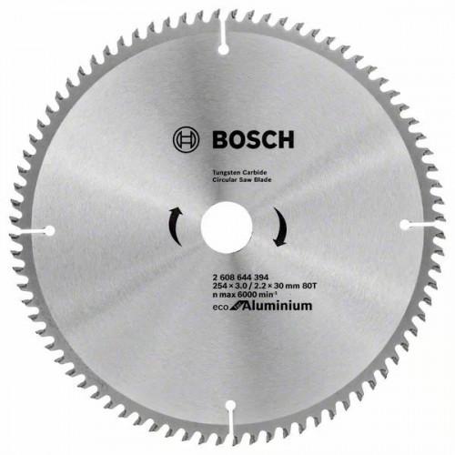 Пильный диск BOSCH Eco for Aluminium D254 d30 z80