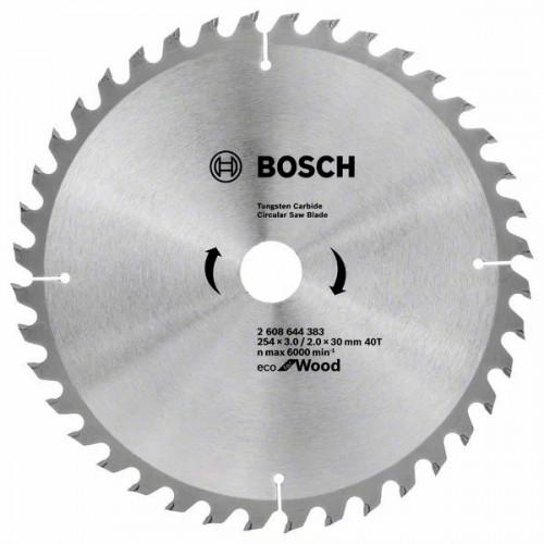 Пильный диск по дереву BOSCH Eco for Wood D254 d30 z40