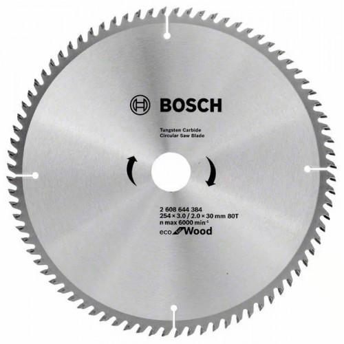 Пильный диск по дереву BOSCH Eco for Wood D254 d30 z80