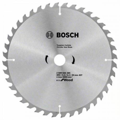 Пильный диск по дереву BOSCH Eco for Wood D305 d30 z40