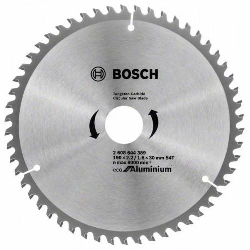 Пильный диск BOSCH Eco for Aluminium D190 d30 z54