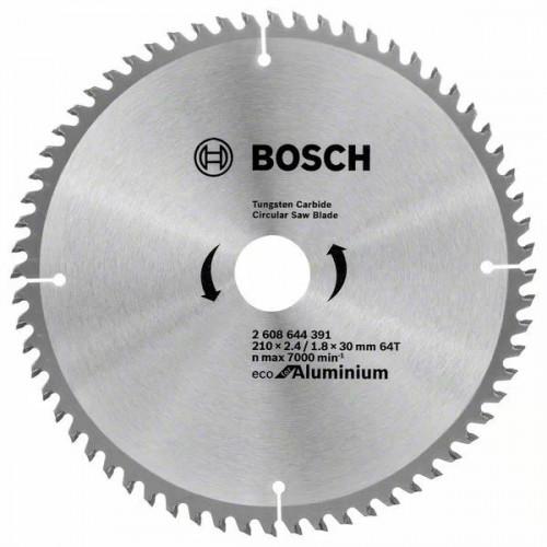 Пильный диск BOSCH Eco for Aluminium D210 d30 z64