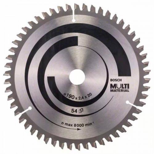Пильный диск универсальный BOSCH Multi ECO D190 d20/16 z54