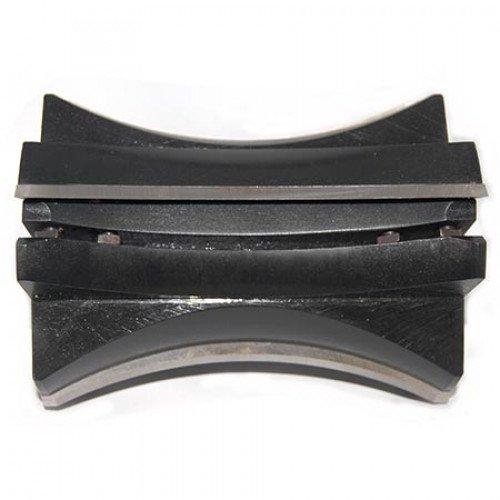 Фреза БЛОК-ХАУС со сменными ножами Р6М5 для обработки радиуса верхней части обшивочной доски 130x40x100